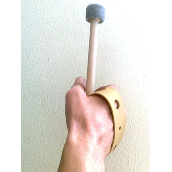 Wristband and grasping help for percussion mallets